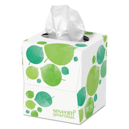 Picture of 100% Recycled Facial Tissue, 2-Ply, White, 85 Sheets/Box