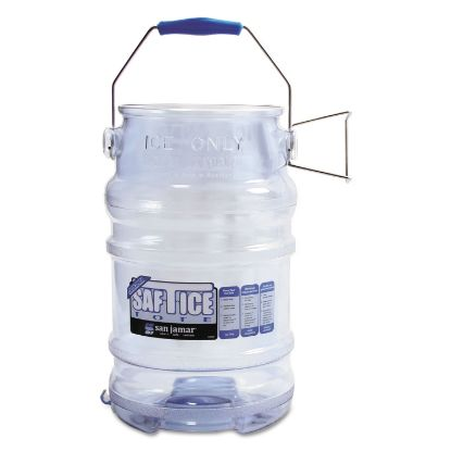 Picture of Saf-T-Ice Tote, 6gal Capacity, Transparent Blue