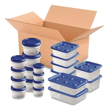 Picture of 40-Piece Plastic Containers with Lids Variety Pack, Assorted Sizes, Clear