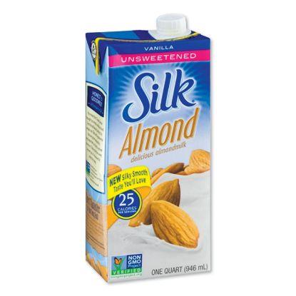 Picture of Almond Milk, Unsweetened Vanilla, 32 oz Aseptic Box