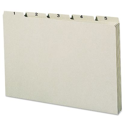Picture of 100% Recycled Daily Top Tab File Guide Set, 1/5-Cut Top Tab, 1 to 31, 8.5 x 14, Green, 31/Set