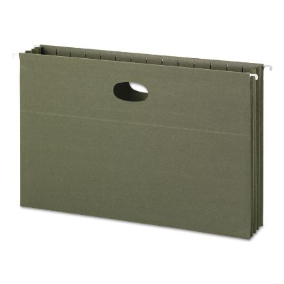 Picture of 100% Recycled Hanging Pockets with Full-Height Gusset, Legal Size, Standard Green, 10/Box