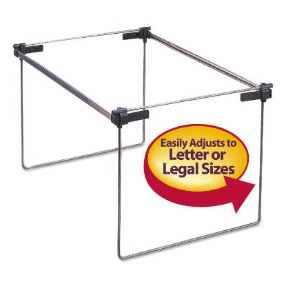 """Picture of Hanging Folder Frame, Legal/Letter/A4 Size, 12"""" to 24"""" Long, Gray, 2/Box"""
