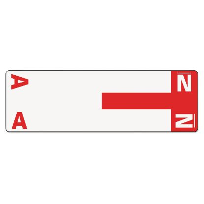 Picture of AlphaZ Color-Coded First Letter Combo Alpha Labels, A/N, 1.16 x 3.63, Red/White, 5/Sheet, 20 Sheets/Pack