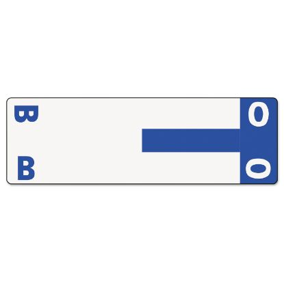 Picture of AlphaZ Color-Coded First Letter Combo Alpha Labels, B/O, 1.16 x 3.63, Dark Blue/White, 5/Sheet, 20 Sheets/Pack