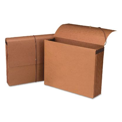 """Picture of 100% Recycled Redrope Wallets, 5.25"""" Expansion, 1 Section, Letter Size, Redrope, 10/Box"""