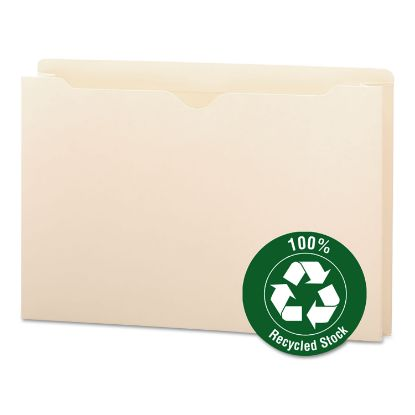Picture of 100% Recycled Top Tab File Jackets, Straight Tab, Legal Size, Manila, 50/Box
