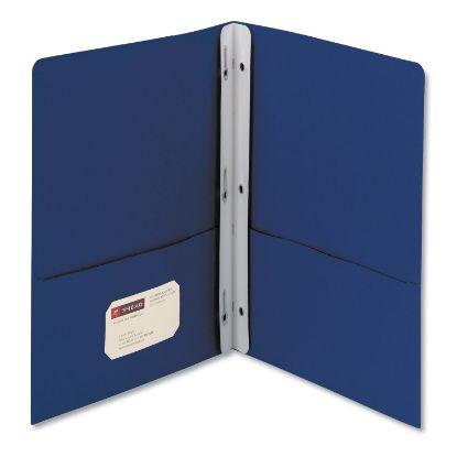 "Picture of 2-Pocket Folder w/Tang Fastener, Letter, 1/2"" Cap, Dark Blue, 25/Box"