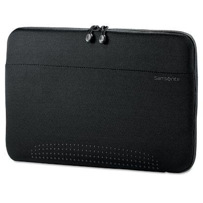 "Picture of 15.6"" Aramon Laptop Sleeve, Neoprene, 15-3/4 x 1 x 10-1/2, Black"