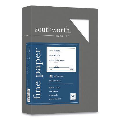Picture of 100% Cotton Business Paper, 95 Bright, 24lb, 8.5 x 11, White, 500/Box