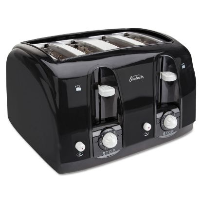 Picture of Extra Wide Slot Toaster, 4-Slice, 11 3/4 x 13 3/8 x 8 1/4, Black