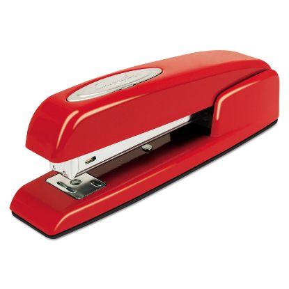 Picture of 747 Business Full Strip Desk Stapler, 25-Sheet Capacity, Rio Red