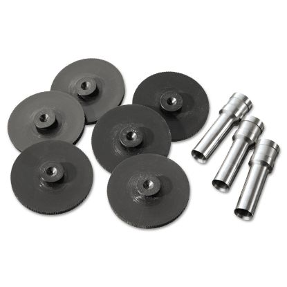 Picture of Replacement Head Punch Set, Three Heads/Five Discs, 9/32 Diameter Hole, Gray