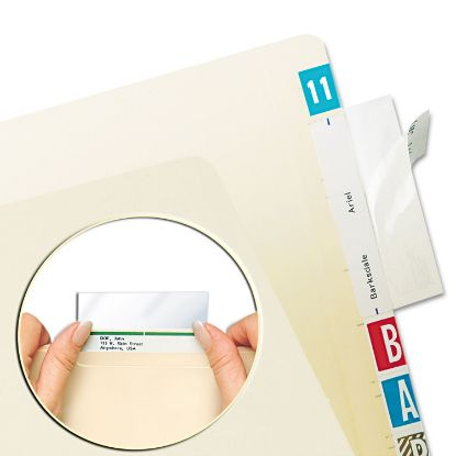 Picture of Self-Adhesive Label/File Folder Protector, Top Tab, 3 1/2 x 2, Clear, 500/Box