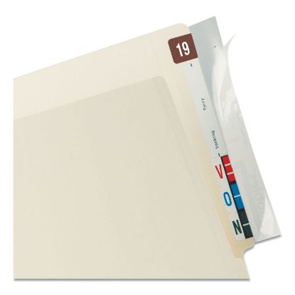 Picture of Self-Adhesive Label/File Folder Protector, End Tab, 2 x 8, Clear, 100/Box