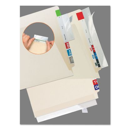 Picture of Self-Adhesive Label/File Folder Protector, Strip, 2 x 11, Clear, 100/Pack