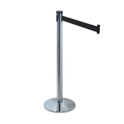 """Picture of Adjusta-Tape Crowd Control Stanchion Posts Only, Nylon, 40"""" High, Black, 2/Box"""
