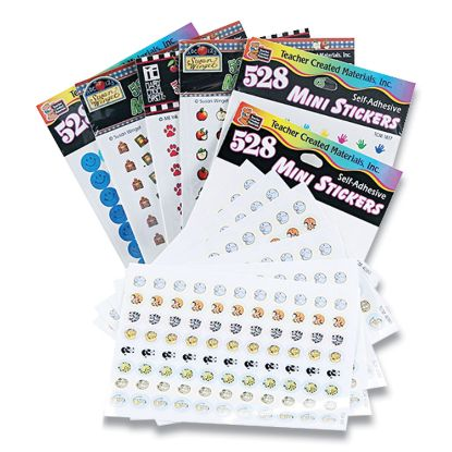 Picture of Mini Stickers Variety Pack, Six Assorted Designs, 3,168 Stickers