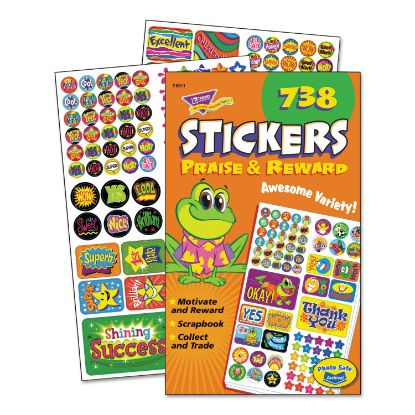 Picture of Sticker Assortment Pack, Praise/Reward, 738 Stickers/Pad