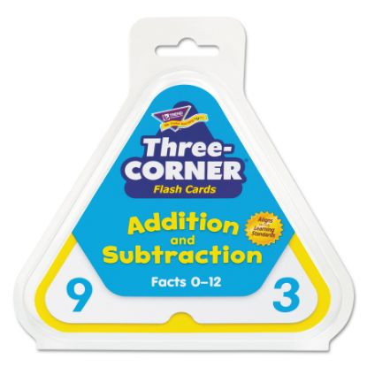 Picture of Addition/Subtraction Three-Corner Flash Cards, 6 & Up, 48/Set