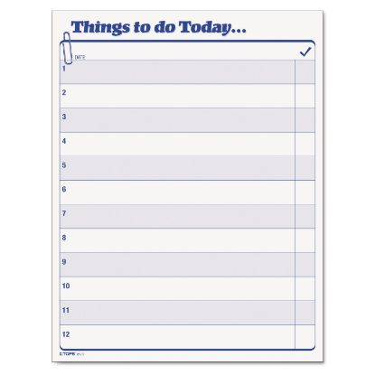 """Picture of """"Things To Do Today"""" Daily Agenda Pad, 8 1/2 x 11, 100 Forms"""