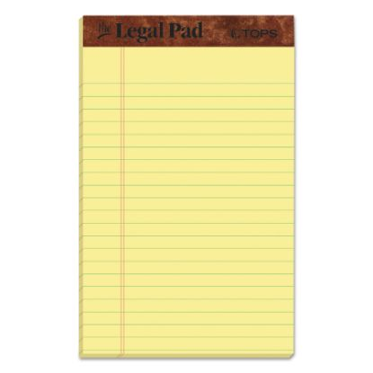 """Picture of """"The Legal Pad"""" Perforated Pads, Narrow Rule, 5 x 8, Canary, 50 Sheets, Dozen"""
