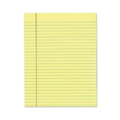 """Picture of """"The Legal Pad"""" Glue Top Pads, Wide/Legal Rule, 8.5 x 11, Canary, 50 Sheets, 12/Pack"""