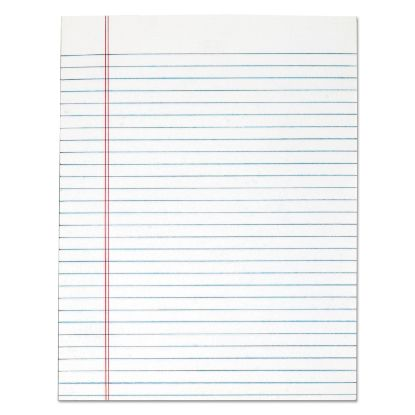 """Picture of """"The Legal Pad"""" Glue Top Pads, Wide/Legal Rule, 8.5 x 11, White, 50 Sheets, 12/Pack"""