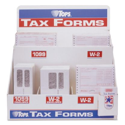 Picture of Six-Part W-2 Tax Form Floor Display, Plastic