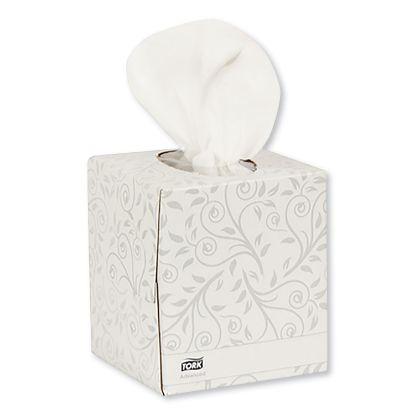Picture of Advanced Facial Tissue, 2-Ply, White, Cube Box, 94 Sheets/Box, 36 Boxes/Carton