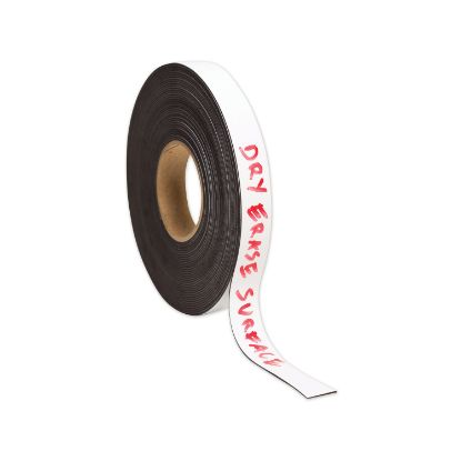 """Picture of Dry Erase Magnetic Tape Roll, 1"""" x 50 ft, White, 1/Roll"""