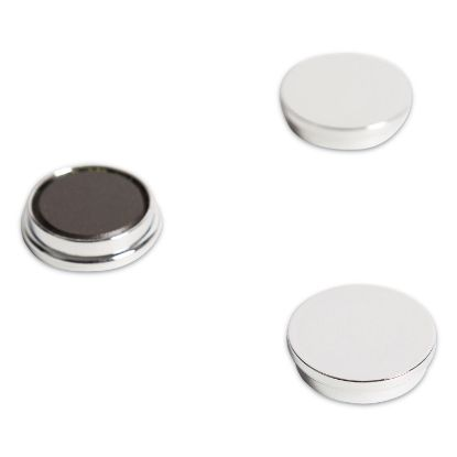 """Picture of Board Magnets, Circles, Silver, 1.25"""", 10/Pack"""