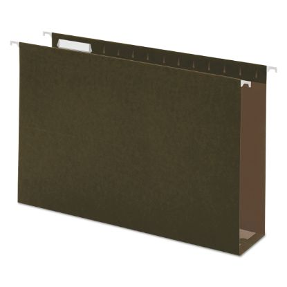 Picture of Box Bottom Hanging File Folders, Legal Size, 1/5-Cut Tab, Standard Green, 25/Box
