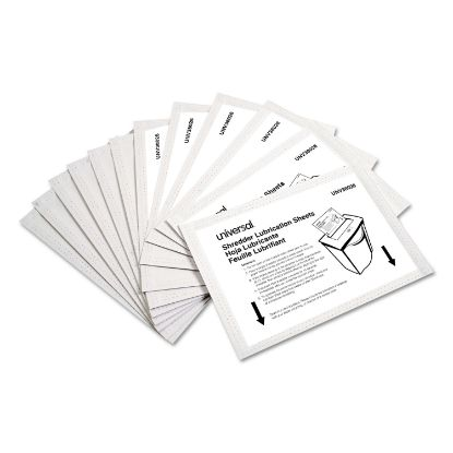 """Picture of Shredder Lubricant Sheets, 5.5"""" x 2.8"""", 24/Pack"""