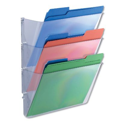 Picture of 3 Pocket Wall File Starter Set, Letter, Clear