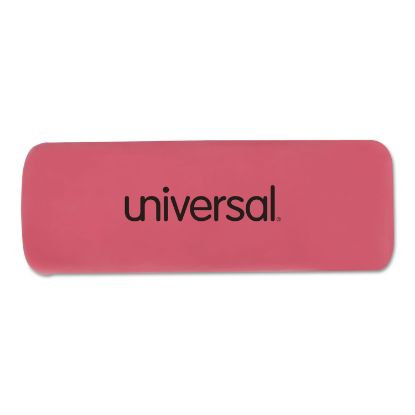 Picture of Bevel Block Erasers, Rectangular, Small, Pink, Elastomer, 20/Pack