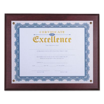 """Picture of Award Plaque, 13 1/3"""" x 11"""", Mahogany"""