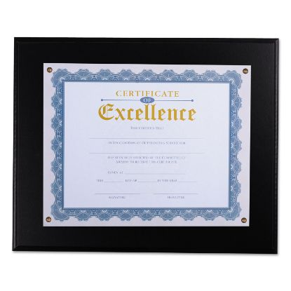 """Picture of Award Plaque, 13 1/3"""" x 11"""", Black"""
