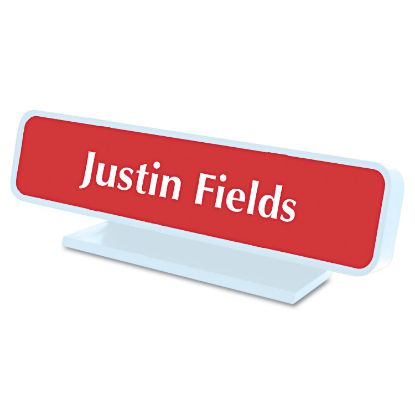 Picture of Architectural Desk Sign with Name Plate, Gray, Radius Edge