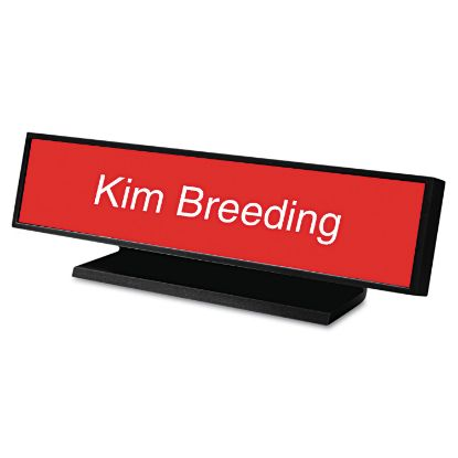 Picture of Architectural Desk Sign with Name Plate, Black, Radius Edge