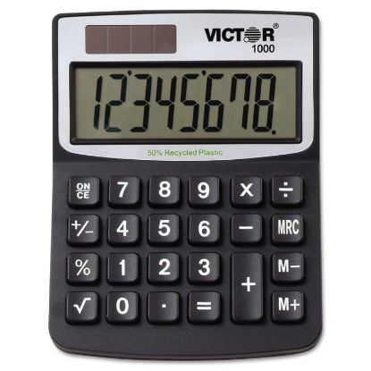 Picture of 1000 Minidesk Calculator, Solar/Battery, 8-Digit LCD