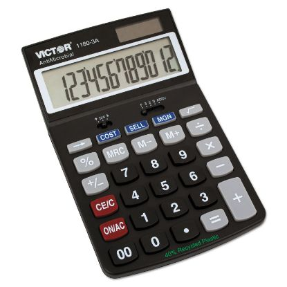 Picture of 1180-3A Antimicrobial Desktop Calculator, 12-Digit LCD
