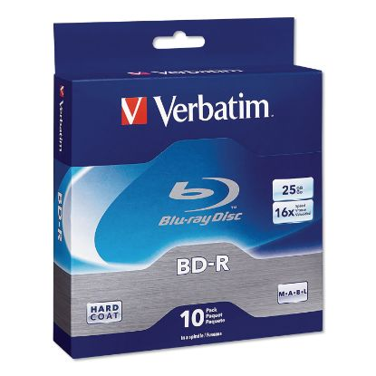 Picture of BD-R Blu-Ray Disc, 25GB, 16x, 10/Pk
