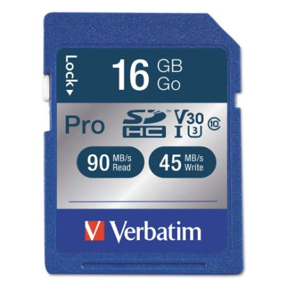 Picture of 16GB Pro 600X SDHC Memory Card, UHS-I V30 U3 Class 10