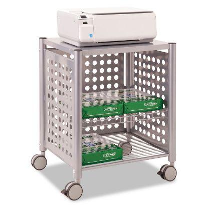 Picture of Deskside Machine Stand, Two-Shelf, 21.5w x 17.88d x 27h, Matte Gray