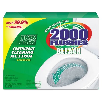 Picture of 2000 Flushes Plus Bleach, 1.25oz, Box, 2/Pack, 6 Packs/Carton