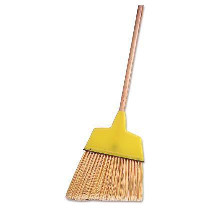 "Picture of Angle Broom, Flagged Plastic Bristles, 7-1/2"" - 6"" Bristles, 54"" Length"