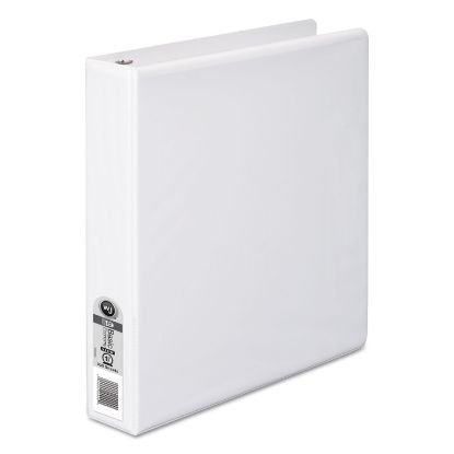 """Picture of 362 Basic Round Ring View Binder, 3 Rings, 1.5"""" Capacity, 11 x 8.5, White"""