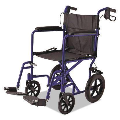 Picture of Medline Excel Deluxe Aluminum Transport Wheelchair